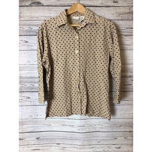 Beige and black Dressing shirt size small